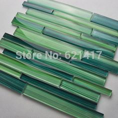 Buy green bamboo strip art hand painted glass mosaic tiles for bathroom home improvement kitchen backsplash HMGM1063 in Cheap Price on m.alibaba.com