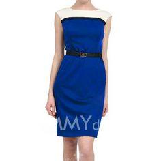 $5.28 Color Block Polyester Modern Stle Sleeveless Dress For Women