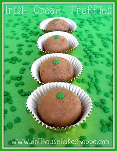Shamrock Irish Cream Truffles