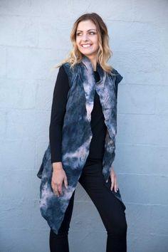 jham Tie Dye Vest - Womens Vests - Birdsnest Fashion Clothing