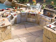 sweet outdoor grill area. this is more realistic, but... my Dream Home is going to have insane things!