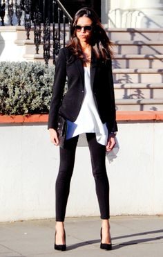 #CAbi Ponte Legging, Shirt Tunic and Chic Blazer