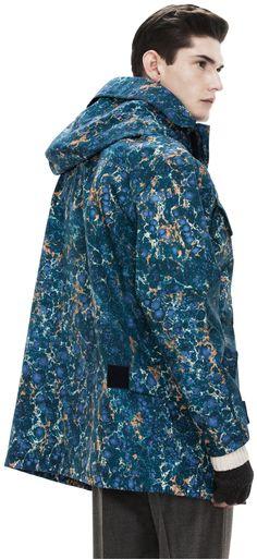 Acne • Clark Blue Marble Technical Jacket