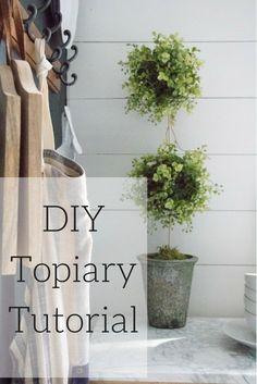 DIY Topiary Tutorial