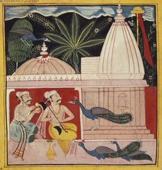 Sarang Ragini. Gouache on paper. Chawand, Mewar, Rajasthan, India, 1605.
