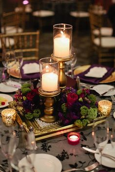 Like this idea! maybe with a hurricane lamp in the middle instead with some hydrangeas or a few peach roses