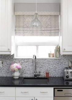 Trendy Kitchen Window Over Sink Curtains Pendant Lights Ideas Window Over Sink, Kitchen Sink Window, Kitchen Sink Faucets, Kitchen Curtains, Kitchen Blinds Above Sink, Bathroom Blinds, Kitchen Corner, Diy Kitchen, Small Kitchen Lighting