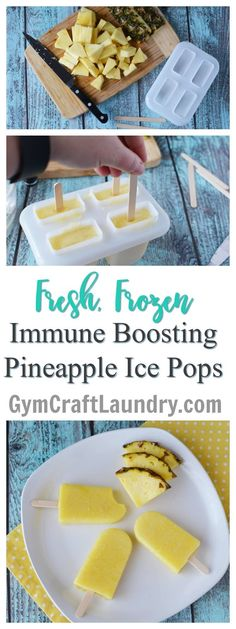 Fresh Frozen Pineapple Popsicle Immune Boosting Snacks