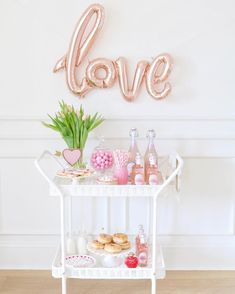"""898 Likes, 72 Comments - Sonja (@jslifeandstyle) on Instagram: """"I finally setup some Valentine's Day decor! My kids are going to have a sugar high when they get…"""""""