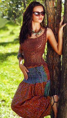 Inspirações de Croche com Any Lucy: Blusa Top