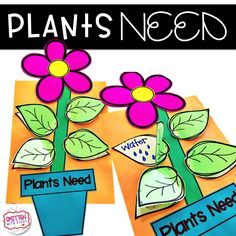 Smitten With First Plants Need flower craftivity - Kindergarten Plant Crafts, Plant Projects, Stem Projects, Parts Of A Flower, Parts Of A Plant, Plant Lessons, Teaching Plants, Kindergarten Science, Teaching Science
