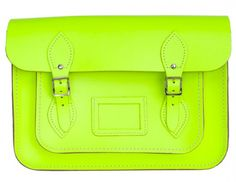 Celebrities who wear, use, or own Cambridge Satchel Company Neon Yellow Leather Satchel. Also discover the movies, TV shows, and events associated with Cambridge Satchel Company Neon Yellow Leather Satchel. Cambridge Satchel, Alexa Chung, Neon Clutch, Lily Cat, Urban Outfitters, Stuff And Thangs, Yellow Leather, Pop, Leather Satchel