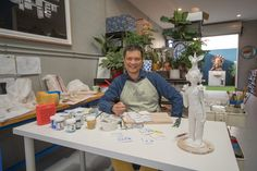 Vipoo Srivilasa from Melbourne, AU in his studio. This is from the January 2018 issue of #CeramicsMonthly.