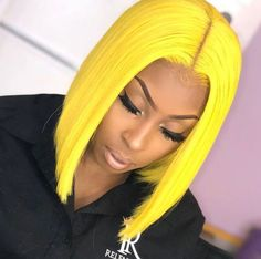 Wigs For Women Red Yellow Blue Blonde Short Bob Wigs With Bangs Straight Synthetic Wig for Costume Hair - New Ideas Short Bob Wigs, Short Straight Hair, Wig Bob, Bob Hairstyles, Straight Hairstyles, Black Hairstyles, Natural Hair Styles, Short Hair Styles, Bob Lace Front Wigs