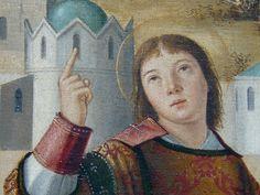 Details of painting Renaissance, Mona Lisa, Louvre, Portraits, Artwork, Painting, Beard Hat, Holy Land, Men Portrait