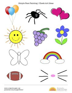 Simple Quick And Easy Face Painting Cheek Art Ideas Options For Kids