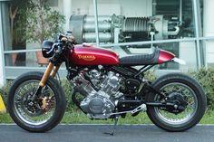 Metric Masterpiece - Virago VX750 Cafe Racer via returnofthecaferacers.com