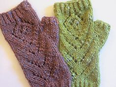 This mitt pattern is courtesy of Kitschy Stitch Yarn Shop in Rehoboth Beach, DE. It requires only 50g of yarn for BOTH mitts. The Terra we have in stock on our website is 50g, so you'll need just one to make your mitts. The lace is basic, but lovely, and the mitts are warm and cozy, yet pretty. I hope you enjoy making and wearing them. :)