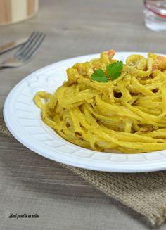 Le LINGUINE ALLO ZAFFERANO CON GAMBERI sono un primo semplice da preparare, ma molto gustoso!