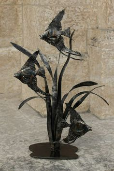Forged Steel Angel Fish Sculpture  Chris Spilak/ArtfullyCrooked