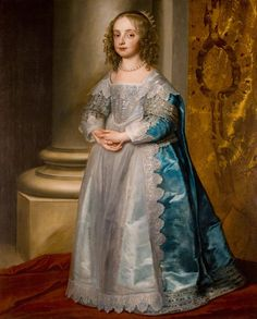 Detail of Princess Mary Stuart by Anthony van Dyck