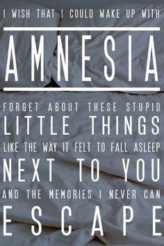 amnesia lyrics - fave 5sos song