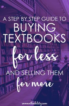 A guide to buying textbooks for less and selling them for more! Get cash for your college textbooks and don't break the bank buying them! Textbooks can be cheap if you know where to look!