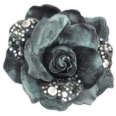 Large Studded Flower Brooch ($28) ❤ liked on Polyvore featuring jewelry, brooches, accessories, flowers, backgrounds, jewellery by diva, women's jewellery, flower broach, blossom jewelry and velvet jewelry