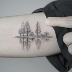 A quiet lake in winter #beautytatoos