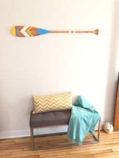Decorative wall oar - DIY painted paddle