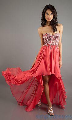 Strapless High Low Dress by Sherri Hill