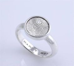 How cute! The engagement ring.... the symbol of replacing the stone with your husbands finger print.... Very meaningful.