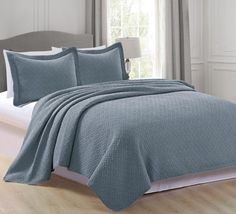 Rianni Collection 3-Piece Stonewashed Microfiber Quilt Set with Shams