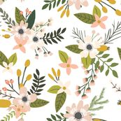 sprigs and blooms // blush // oversized  by ivieclothco