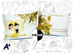 Almofadas personalizadas p/ casamento