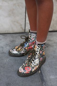 FLORAL PRINT DOC MARTINS!!! I had this exact pair when i was little, i loved them!! :)