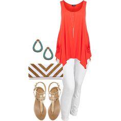 Summer Pallet - Plus Size by alexawebb Curvy Girl Fashion, Love Fashion, Plus Size Fashion, Womens Fashion, Casual Outfits, Summer Outfits, Cute Outfits, Fashion Outfits, Nail Fashion