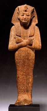 """Ushabti of Rameses IX,"" Egyptian, wood, 20th Dynasty, Reign of Rameses IX, 1131-1112 B.C.,"
