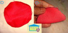Casa com amor e arte: Como fazer rosa de tecido - Passo a passo