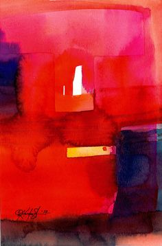 Abstraction Series . 220... Original abstract watercolor art ooak painting by Kathy Morton Stanion EBSQ