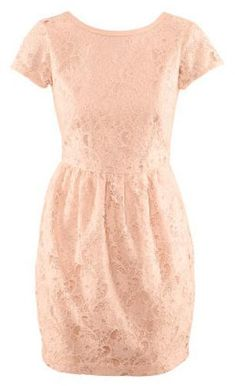 Bridal Shower Attire: H Powder Pink Lace Dress