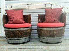 Repurposed wine barrels
