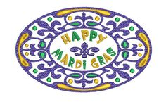 MARDI GRAS Fleur de lis Embroidery Design 4x4 5x7 6x10 Instant Download