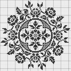 roses cross stitch chart