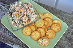 Just a Spoonful of: Neiman Marcus Dip. UPDATE: had to make w/o almonds and still came out yummy! Served with Ritz crackers. Party Dips, Appetizers For Party, Appetizer Dips, Appetizer Recipes, Snack Recipes, Party Snacks, Dip Recipes, Amish Recipes, Neiman Marcus Dip