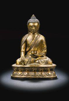 A GILT-BRONZE FIGURE OF MEDICINE BUDDHA<br>TIBET, 14TH/15TH CENTURY | Lot | Sotheby's