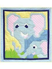 Kids Bed & Crib Quilt Patterns - Elephant Quilt Pattern