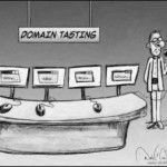 What is domain name tasting? Domain name tasting is the process of registering a domain name and seeing how much traffic it brings to a website. http://twrosemarketing.co.uk/affiliate-network-marketing/all-about-mobile-domain-names/domain-name-tasting/