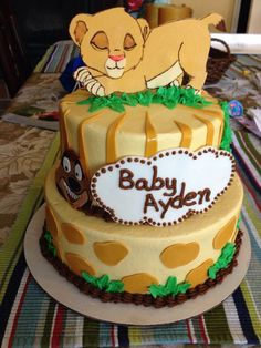 Lion King theme birthday cake