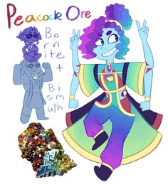 FT - (Bismuth/Bornite) Peacock Ore by TheZodiacLord.deviantart.com on @DeviantArt